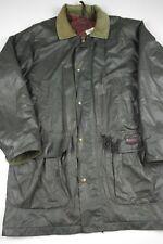 Vintage Woolrich Raincoat Parka Wool Lined Jacket Mens Size M green 17122 vtg
