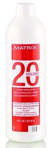 Matrix 20 Volume Cream Developer 16 oz FAST FREE SHIPPING!