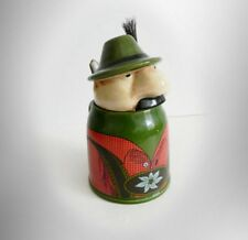 W German GERZ vintage lidded stein with mustache man with hat - FREE SHIPPING