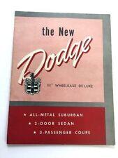 1950 Dodge Original Vintage Canada Car Sales Brochure Catalog