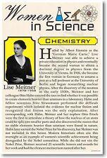 Lise Meitner - NEW Women in Science Chemistry - Classroom POSTER