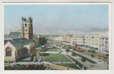 Devon postcard - St Andrews Church & Royal Parade, Plymouth - P/U (A941)