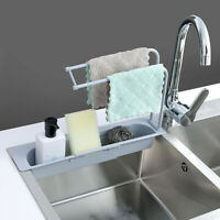 Household Faucet Clip Kitchen Sink Sponge Storage Rack Soap Brush Organizer Sale
