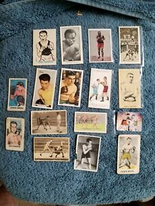 VINTAGE BOXING TREASURE CHEST LOT (16) TOBACCO JOHN SULLIVAN , CARPENTIER, BERG