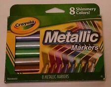 Crayola Metallic Markers, 8 Count - Nib!