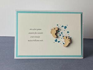 Glückwunschkarten zur Geburt für Jungen Baby Glück Klapp Karten Handarbeit 3d