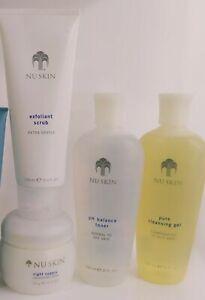 Moisturizer Face Cream Vitamin E, Scrub, Cleanser, Toner, Mud Mask Nu skin SET