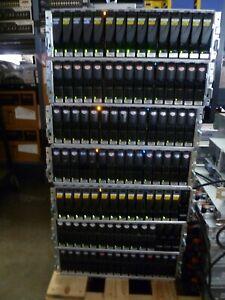 LOT OF 7:  EMC 100-562-126 15 SLOT FIBRE CHANNEL STORAGE ARRAY KTN-STL4 W/ HDD