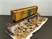 BOX CAR on ABANDONED SIDING...DIORAMA  - Handmade by Seller   HO
