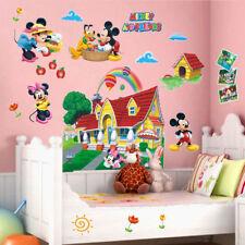 Adesivo parete 3D Mickey mouse minnie Cameretta bambini Casa Muro Wall Stickers