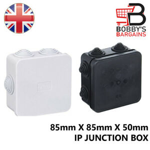 WATERPROOF IP65 PVC JUNCTION BOX OUTDOOR BOX CASE CABLE WIRE CONNECTOR TERMINAL