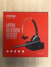 MPOW BH231A Bluetooth Headset - Boxed, Charging Base, UK Stock, Trucker