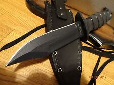 "12 1/8"" OVERALL LENGTH ONTARIO KNIFE CO. MARINE COBAT KNIFE 1095 CARBON STEEL BL"
