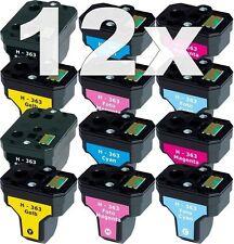 12x XL PATRONEN für HP363 C5180 C6250 C7180 C7280 C8180 3110 3210 3310 8230 8250