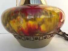 "MID CENTURY MODERN GENIE STYLE DRIP GLAZE STYLE TABLE LAMP 38"" HIGH"