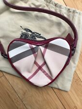 Burberry Check Heart Crossbody Bag Red Trim Girls Womens NEW Rare Only 1 On eBay