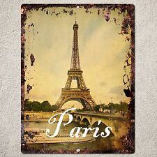 PP0086 Vintage Paris Sign Rustic Parking Plate Home Restaurant Cafe Gift Decor