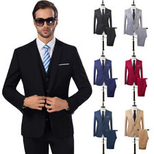 2PCS Men Blazer Suit Slim Fit Tuxedo Coat Pants Trousers Formal Wedding Groom CA