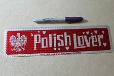POLISH LOVER - Poland White Eagle Funny Sexy 80's Flag 3x11.5in. Bumper Sticker