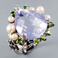 Lavender Amethyst Ring Silver 925 Sterling Top Color AA 21ct+ Size 8 /R128815