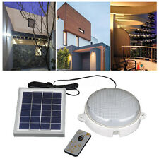 Solar Panel LED Light Wall Ceiling Lamp Outdoor Garden With Remote Controller