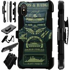 Lux-Guard For iPhone 6/7/8 PLUS/X/XR/XS Max Phone Case Cover MILITARY LOGO CAMO
