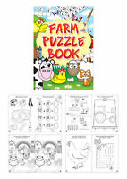 6 Farm Puzzle Books - A6 Size - Small Loot/Party Bag Fillers Wedding/Kids