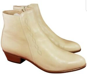 NEW BALLY ITALY BEIGE CHELSEA LEATHER MAN BOOTS SIZE 10 M