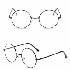 XL LARGE Glasses Round Retro Clear Lenses Gold Frame sunglasses Spectacles