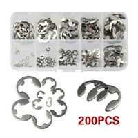 200x Stainless Steel Metric External E Clip Washer Retaining Circlip Clips Rings