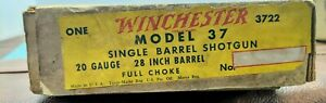 Vintage 1936-1959 Winchester 20 Gauge Model 37 Box Only w/papers (tags)