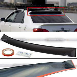 For 09-13 Toyota Corolla Thin Verion Tinted Rear Window Roof Vent Visor Spoiler