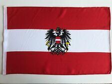 Fahne Flagge Österreich mit Wappen mit Schaft 30x45 cm