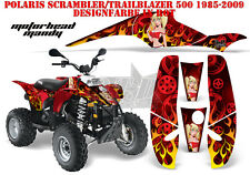 AMR Racing DECORO GRAPHIC KIT ATV POLARIS interferenzaNverso/Trailblazer Motorhead Mandy B