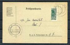 Österreich Feldpostkarte mit Halbierung nach Pilsen - b4825