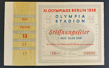 1936 Berlin Summer Olympic Games Opening Ceremony Ticket