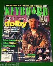 1995 Thomas Dolby Roland JV-80 90 1000 KORG WAVEDRUM YAMAHA W7 Keyboard Magazine