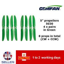 "Gemfan Propellers Quad Props 5"" 5030 x8 4 Pairs Green QAV 250 FPV Emax ZMR UK"