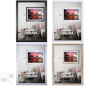 Bilderrahmen Alis Holz MDF Foto Poster Rahmen ab 10x15 bis 80x100  Modern
