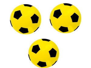 Pack of 3 -  20cm E-Deals Foam Sponge Football  Ball Soft Indoor Outdoor Soccer