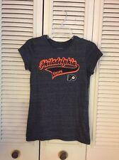 Philadelphia Flyers Shirt Old Time Hockey NHL Womens Juniors Size M Gray