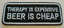 "Beer is Cheap~Biker~Brewiana~Embroidered Patch~3 1/2"" x 1 3/8""~Iron or Sew On"