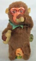VINTAGE TIN LITHO WIND-UP TOY MONKEY POURING AND DRINKING MILK - JAPAN