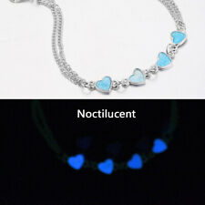 Beach Anklet Foot Chain Jewelry Us Women Heart Bracelet Luminous Glowing Sandal