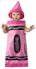 LICENSED CRAYOLA TICKLE ME PINK CRAYON INFANT HALLOWEEN COSTUME SIZE 3M-9M