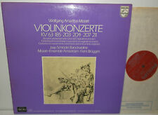 6775 012 Mozart Violin Concertos Jaap Schroder Mozart Ensemble Frans Bruggen 2LP
