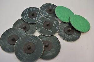 Roloc Type Discs 50mm 10 off Green Zirconia