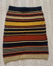 Missguided Skirt. Knitted Skirt. Glitter. Size 6. Stretch. Winter Skirt. Stripes