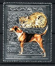 Guyana 1993 $800 Cats & Dogs issue with Silver Backround MNH