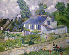 House In Auvers by Van Gogh, Giclee Canvas Print, in various sizes